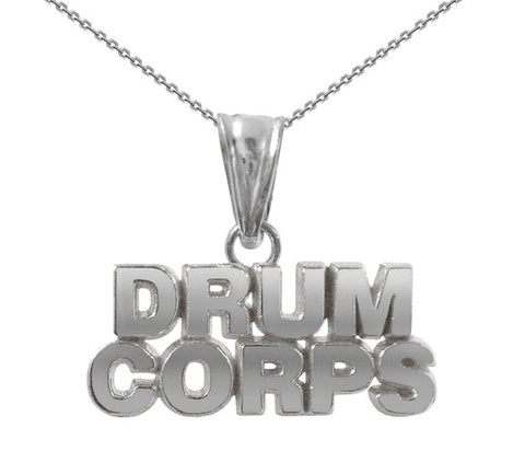Drum Corps Necklace | Sterling Silver Gift - ColorGuard Gifts