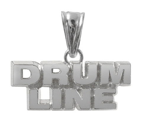 Sterling Silver Drum Line Charm | Color Guard Gifts - ColorGuard Gifts