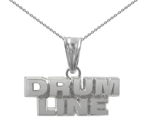 Sterling Silver Drum Line Necklace | Color Guard Jewelry - ColorGuard Gifts
