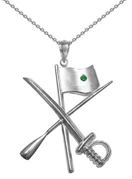 Color Guard Flag Rifle Saber Necklace | Sterling Silver - ColorGuard Gifts - 5