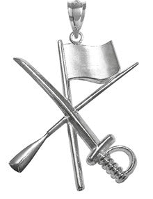 Color Guard Flag Rifle Saber Charm | Sterling Silver Jewelry - ColorGuard Gifts - 1