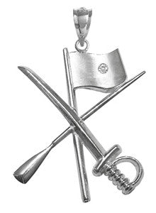 Color Guard Flag Rifle Saber Charm with Diamond for Winter Guard