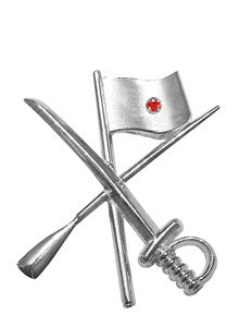 Color Guard Flag Rifle Saber Lapel Pin | Sterling Silver - ColorGuard Gifts - 7