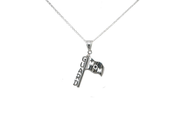 Color Guard Mom Necklace | Sterling Silver - ColorGuard Gifts - 1