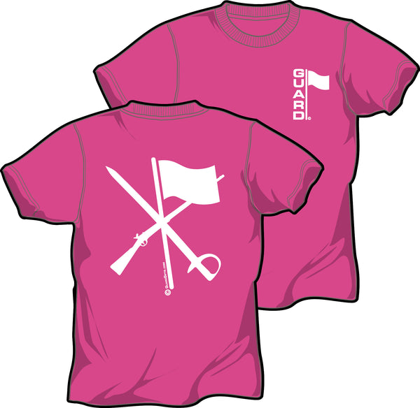 T Shirt for Color Guard or Winter Guard in Pink - ColorGuard Gifts