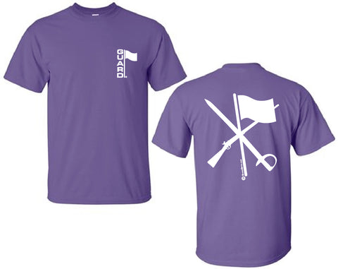 Flag Rifle Saber Color Guard T-Shirt in Purple