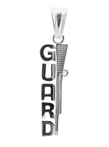 Color Guard Rifle Charm | Sterling Silver Jewelry - ColorGuard Gifts