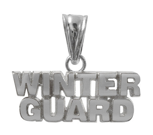 Sterling Silver Winter Guard Charm | WinterGuard Gift - ColorGuard Gifts
