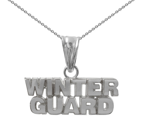 Sterling Silver Winter Guard Necklace | WinterGuard - ColorGuard Gifts