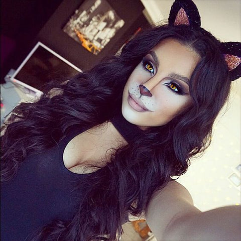 you cant go too far wrong with a sexy cat outfit on halloween cat makeup is so flattering for some reason makeupbyleyla is nailing it