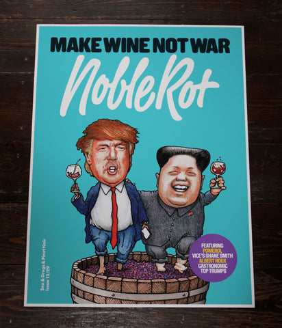 Noble Rot Limited Edition Art Print - MAKE WINE NOT WAR - BLUE