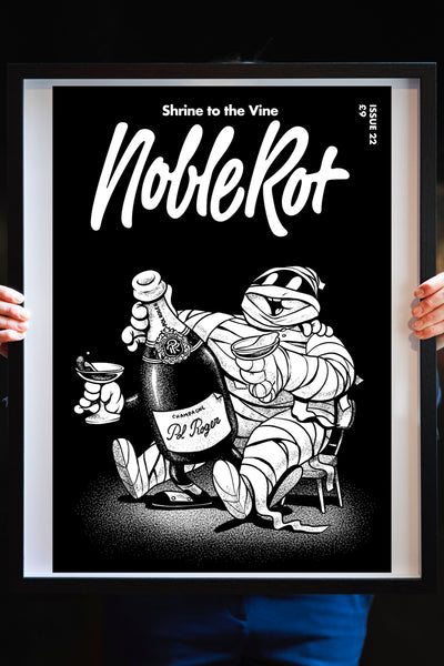 NOBLE ROT LIMITED EDITION ARTWORK PRINT - Rediscovering Lost Champagne from Issue 22