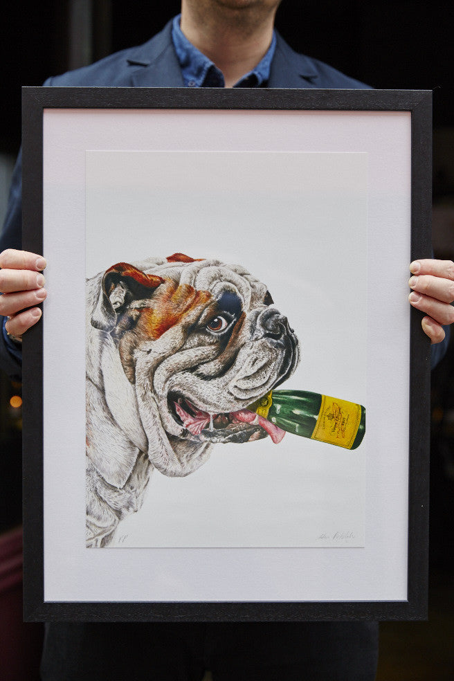 Noble Rot Limited Edition Art Print - English Sparkling Wine VS Champagne Print SOLD OUT