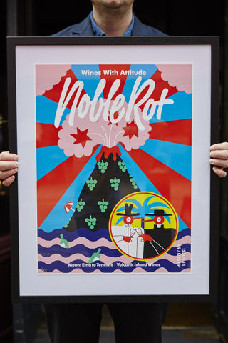 Noble Rot Limited Edition Art Print - Volcanic Island Wines SOLD OUT