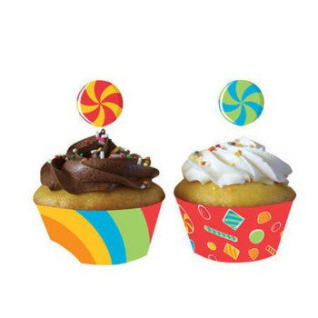 Sugar Buzz Cupcake Wraps with Toppers