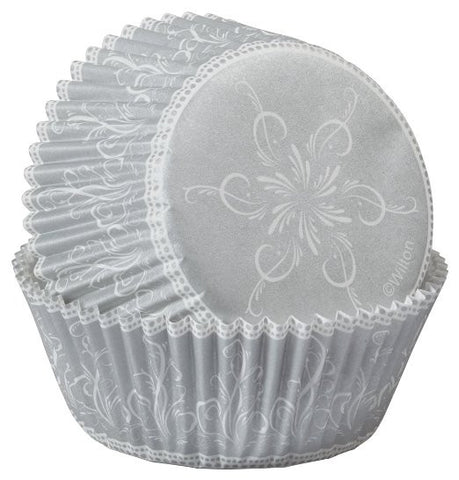 Christmas Sparkle and Cheer Cupcake Cases - Silver