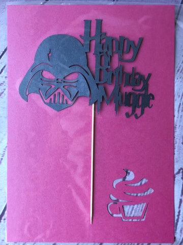 Card Toppers - Happy Birthday Muggle/Darth Vader (no name)