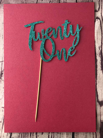 Card Toppers - Twenty One (no name)