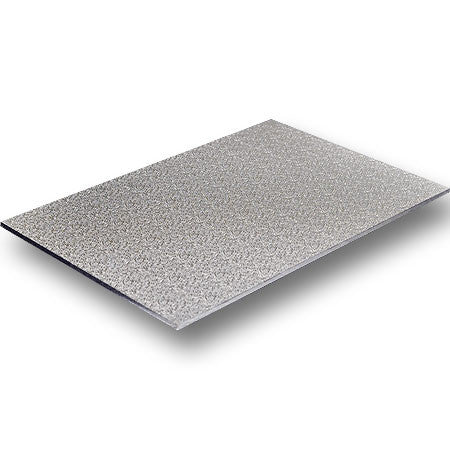 "Cake Board - Wooden 12x18"" Rectangle Silver"