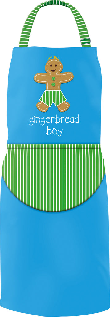 Children's Apron - Gingerbread Boy & Chef Hat Set