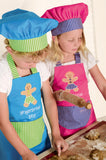 Children's Apron - Gingerbread Girl & Chef Hat Set