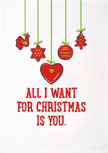 Christmas Tea Towels - All I Want for Christmas