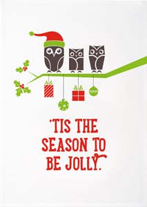 Christmas Tea Towels - Tis The Season To Be Jolly