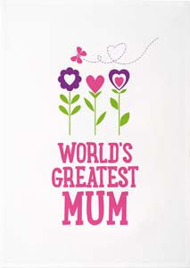 Tea Towels - World's Greatest Mum