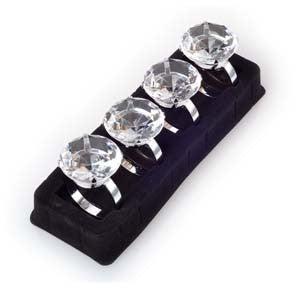 Napkin Ring Set - Round Diamond
