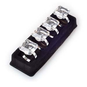 Napkin Ring Set - Square Diamond