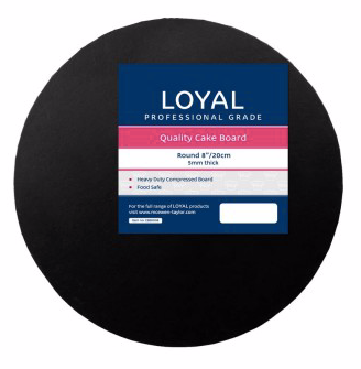 Loyal 8 inch Black Round Board 5mm