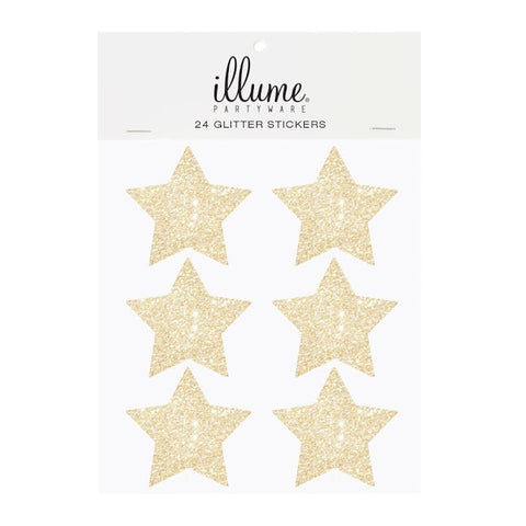 Glitter Star Sticker Seals Gold
