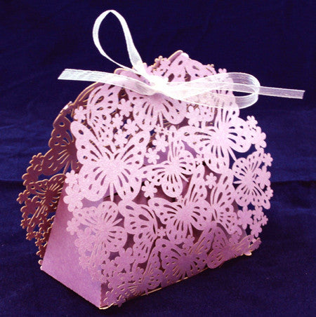 Flower and Butterfly gift box - Various colours available
