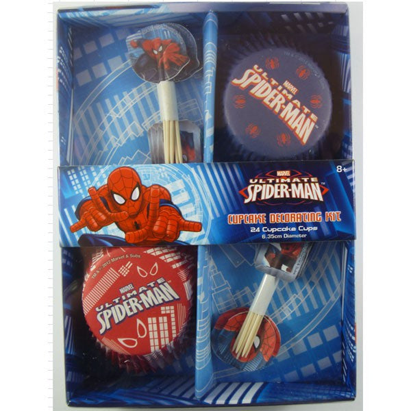 Spiderman Cupcake Decorating Kit