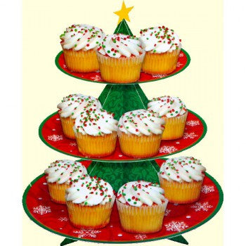 Christmas Tree 3 Tier Cupcake Stand