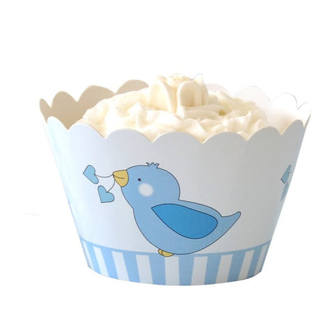 Blue Bird Cupcake Wrapper