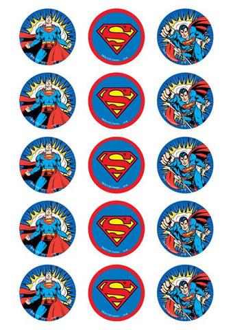 Superman Cupcake Toppers