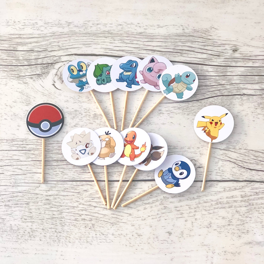 Cut Card Round Cupcake Toppers (Pack of 12)