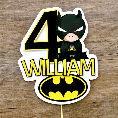 Superhero cut card printed card topper