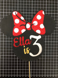 Card Toppers - Mini Mouse - 3 Colours