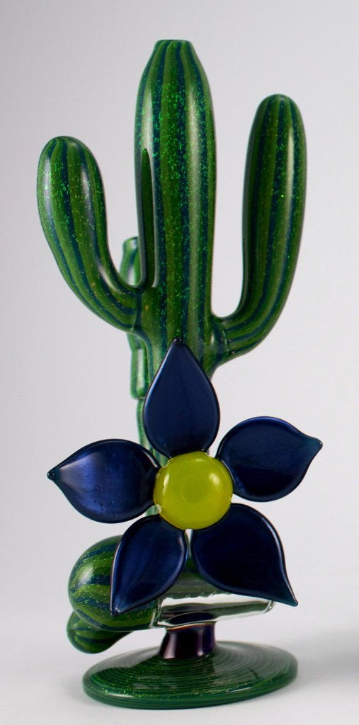 Darby: Cactus Inline with Blue Flower