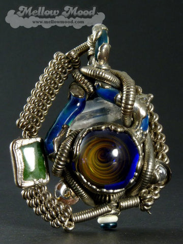 Jesse James: Vortex Marble Quartz Crystal Ruby/Peridot Jade