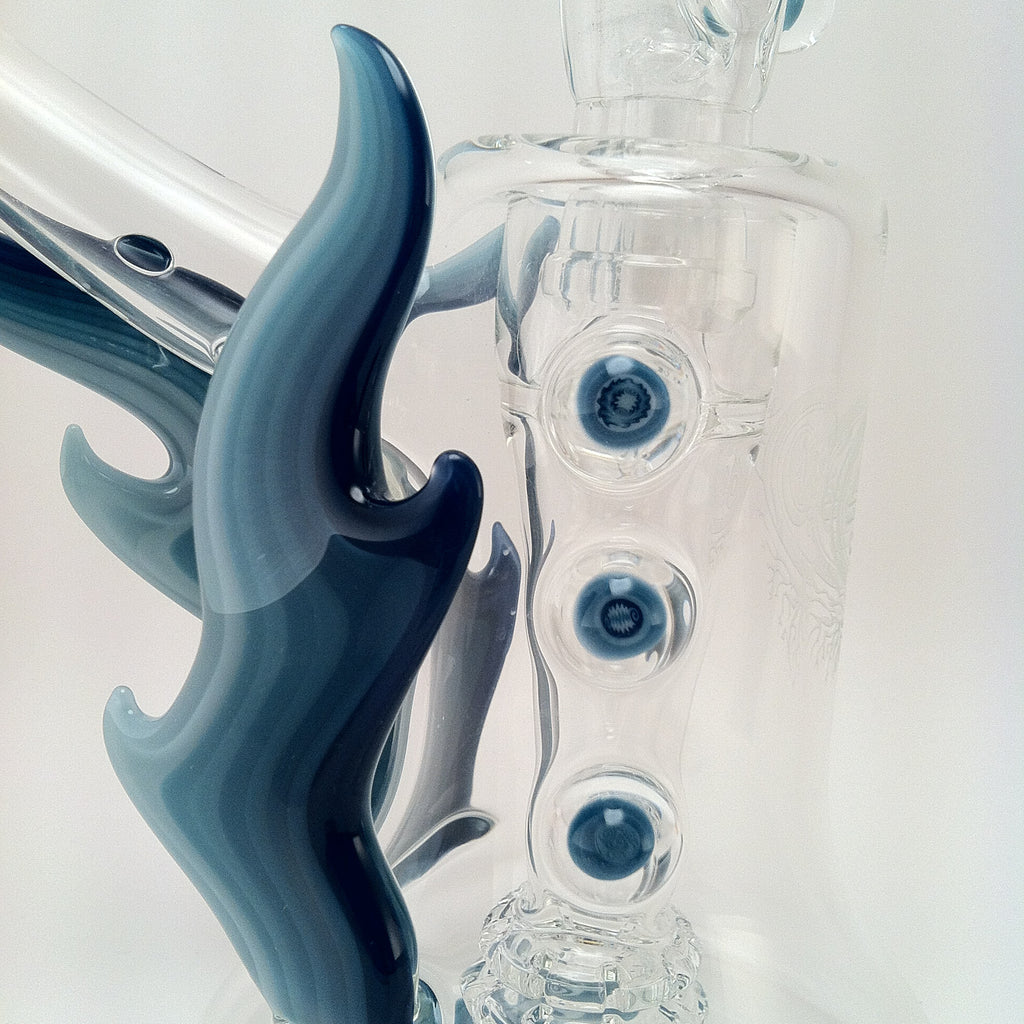 4.0: Double Showerhead Bubbler w/ Cane #8