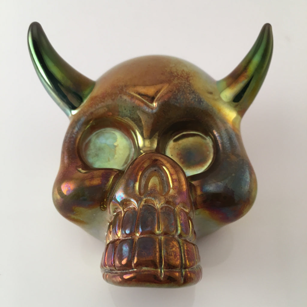 Carsten: Horned Golden Skull Pendant