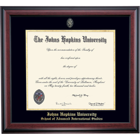 Johns Hopkins SAIS School Color Traditional Diploma Frame – JHU SAIS ...