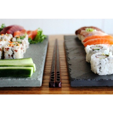 Sushi & Chopstick Plate Set for Two - 2 colors - RockTimber - 1