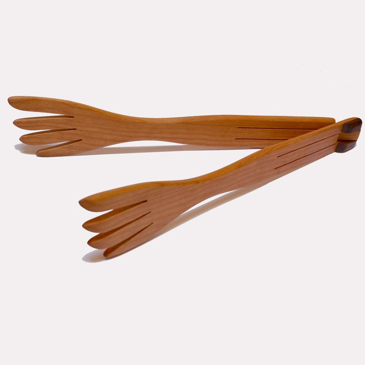 INSIDE-OUT WOOD TONGS