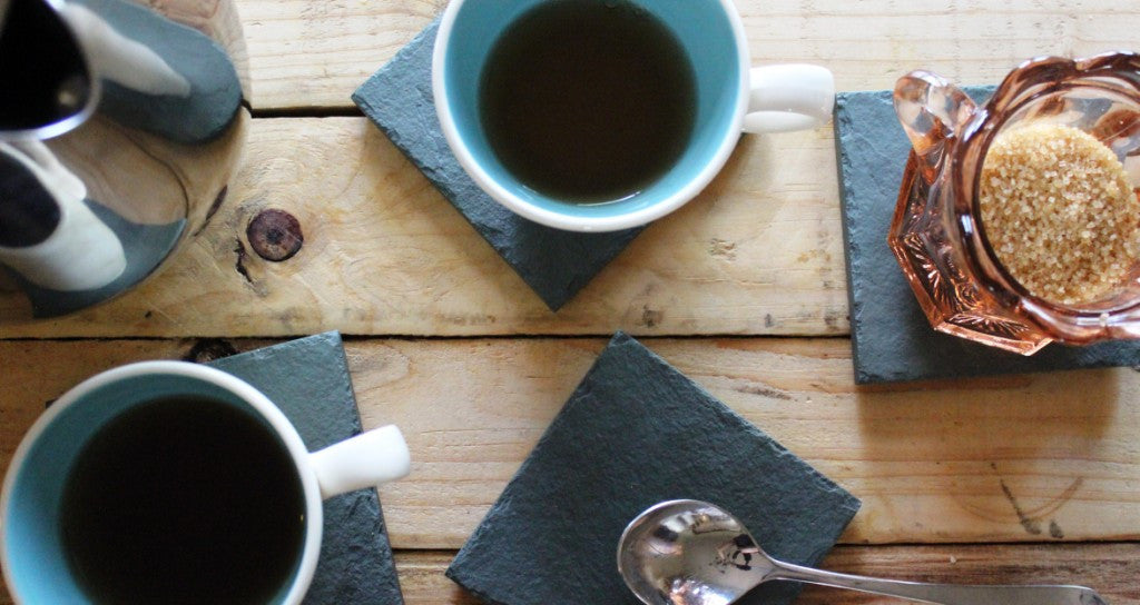 Natural Green Slate Coasters