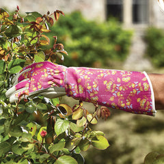 Briers Signature Collection Oriental Floral Gauntlet Gloves