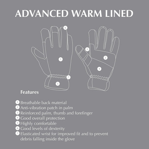 Briers Advanced Warm Lined Gloves Features Guide